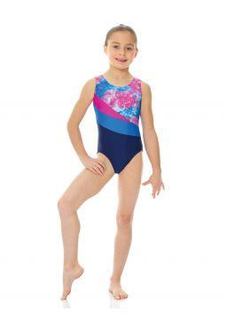 Printed and Solid Tank Gymnastics Bodysuit - Child