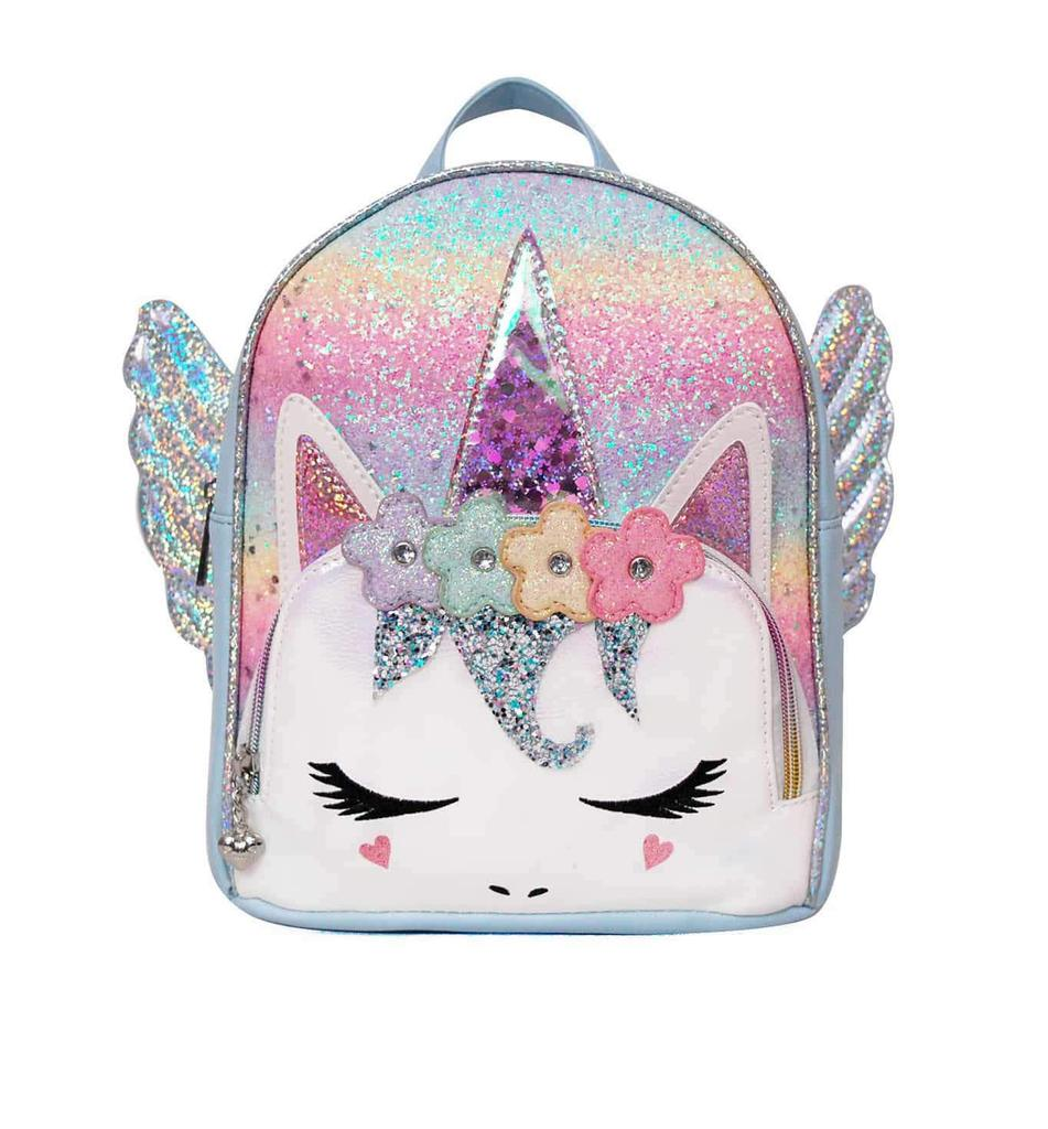 Pegasus Flower Crown Ombre Glitter Mini Backpack