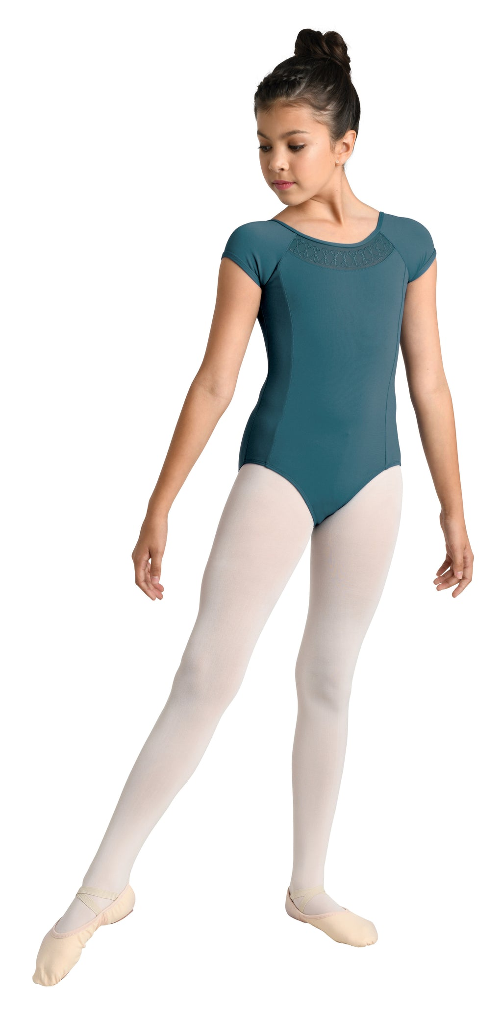 Embroidered Leotard with Cap Sleeve - Child