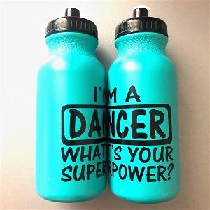 Dancer Superpower Water Bottle - Turquoise