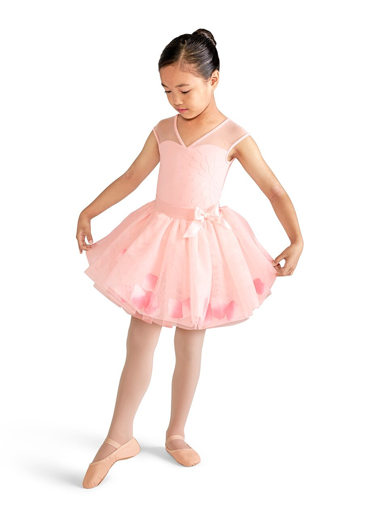 Bubble Tutu with Petals and Satin Bow - Child