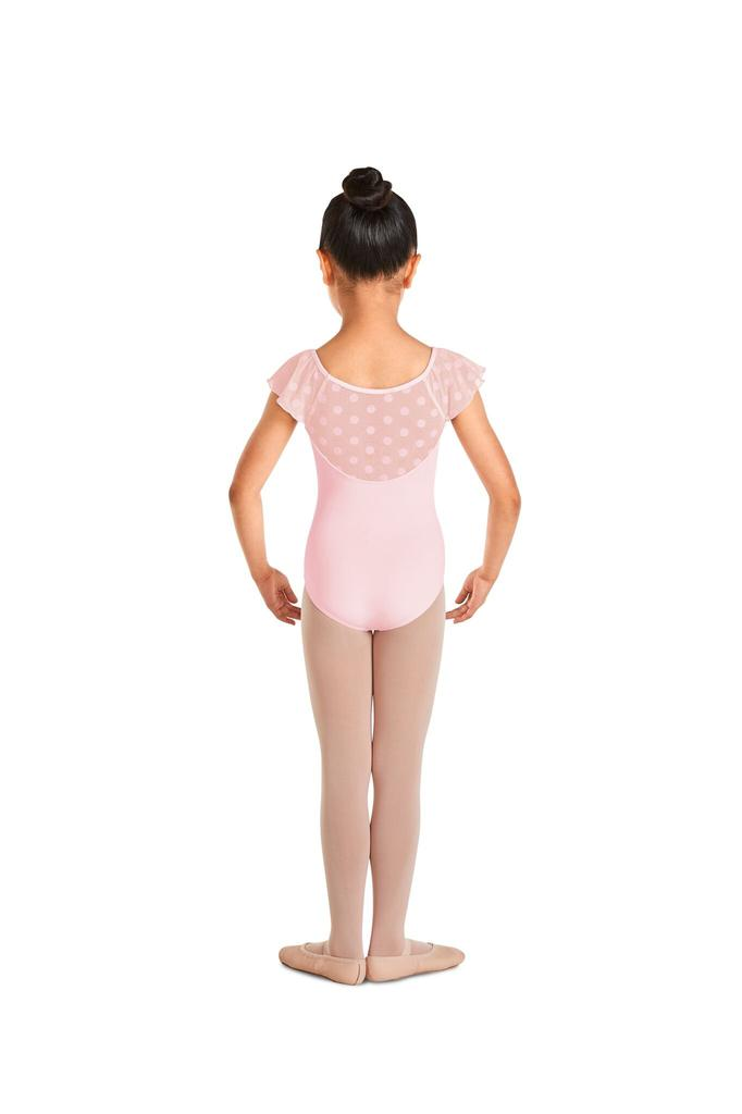 Polka Dot Flutter Sleeve Leotard - Child