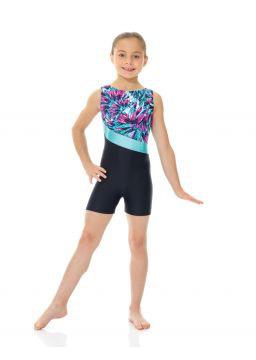 Printed Gymnastics Biketard - Child
