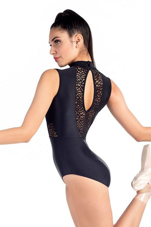 High Neck Leotard with Lace - Adult