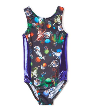 Girl Loves Space Gymnastics Leotard - Child