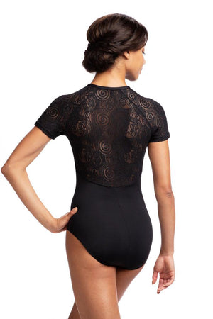 Emily Cap Sleeve Leotard with Lola Lace - Adult