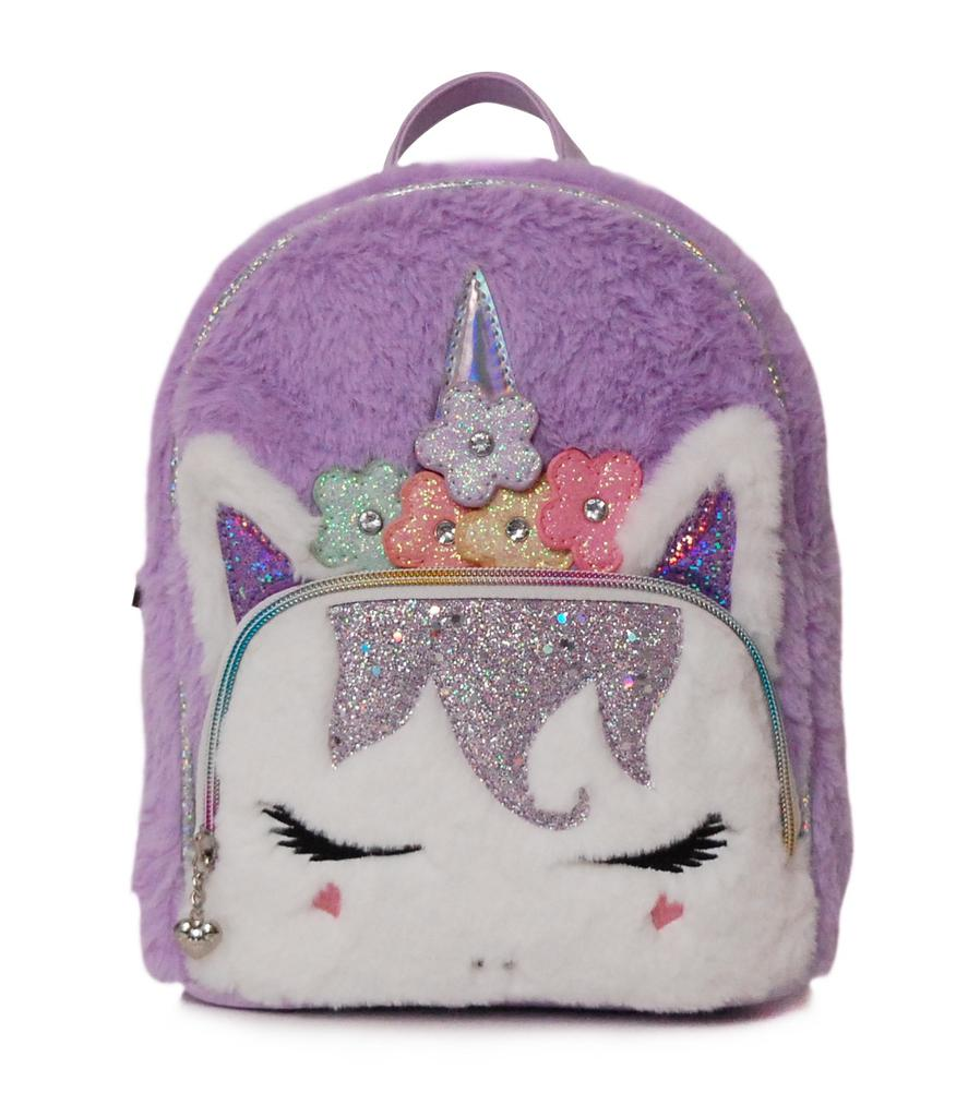 Flower Crown Miss Gwen Furry Mini Backpack