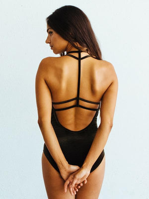 Ilia Velvet Strappy Leotard - Adult