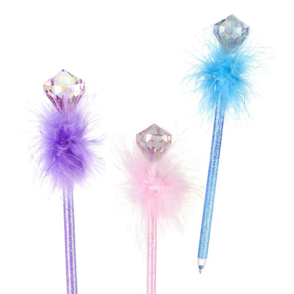 Diamond Gem Fluffy Pens