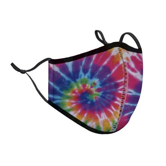 Protective Face Cover - Kids - Neon Tie Dye