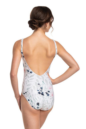 Sarah Printed Low Back Leotard - Adult