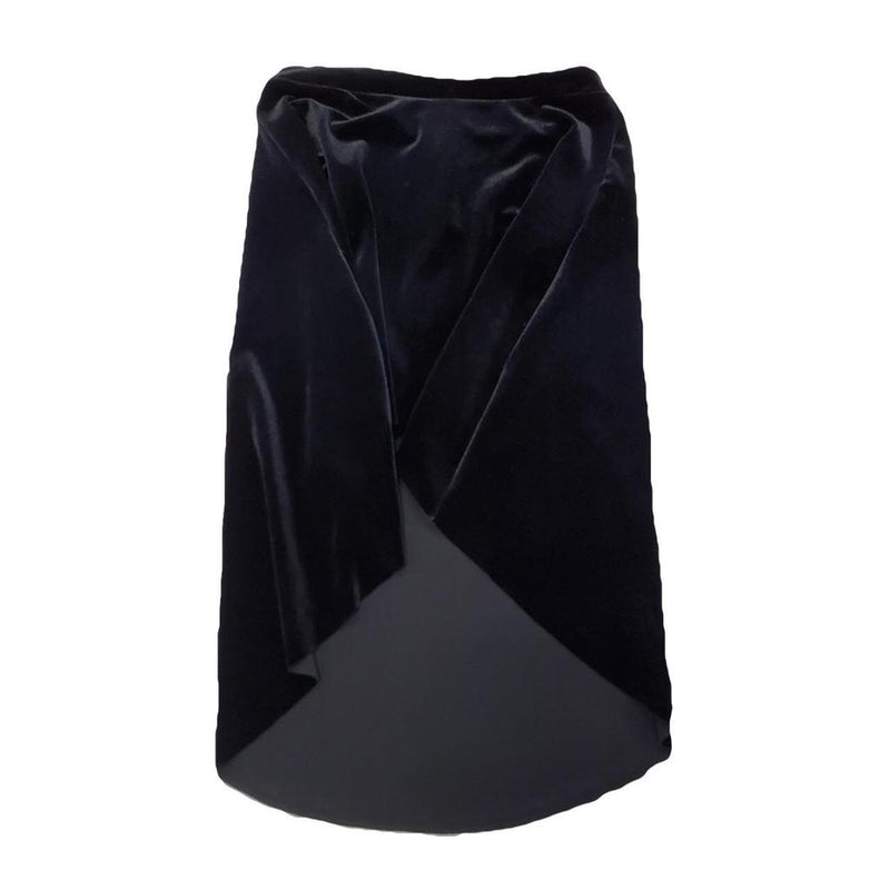 Mid High-Low Velvet Skirt