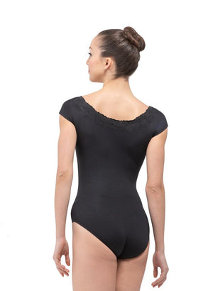 Arianna Embroidered Neckline Leotard