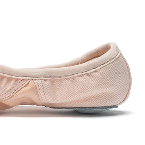 Vegan Split Sole Canvas Ballet Slipper - Adult