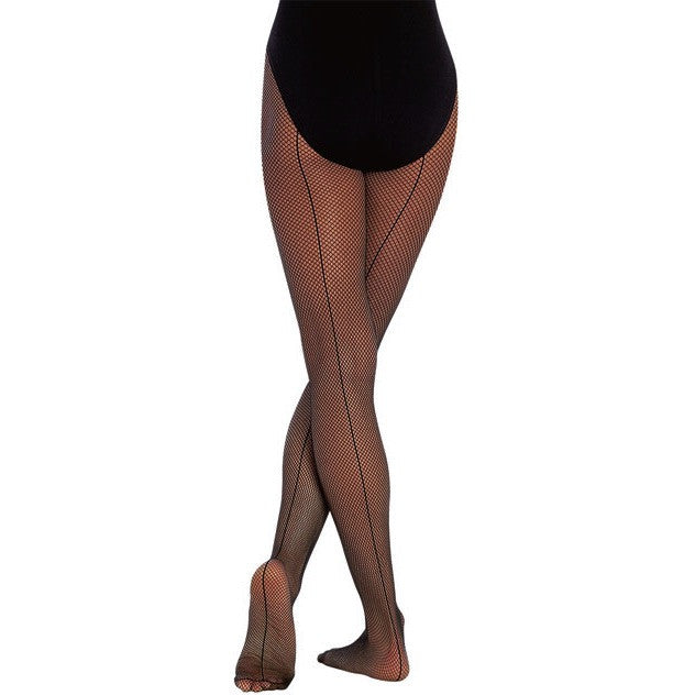 Seamed Fishnet Tights - Adult