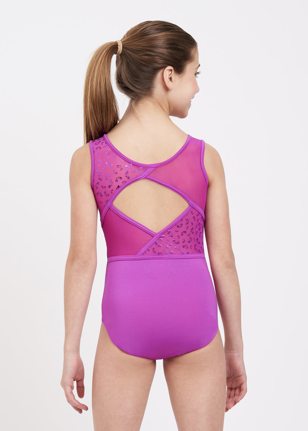 Butterfly Shimmer Tank Leotard - Child