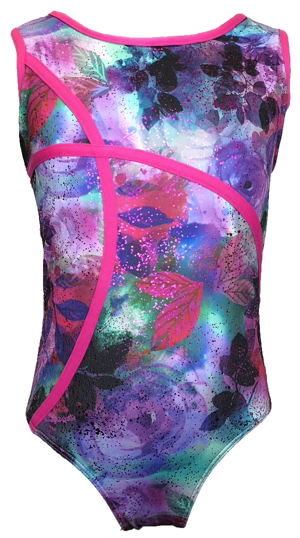Gymnastics Leotard with Criss Cross Back - Child