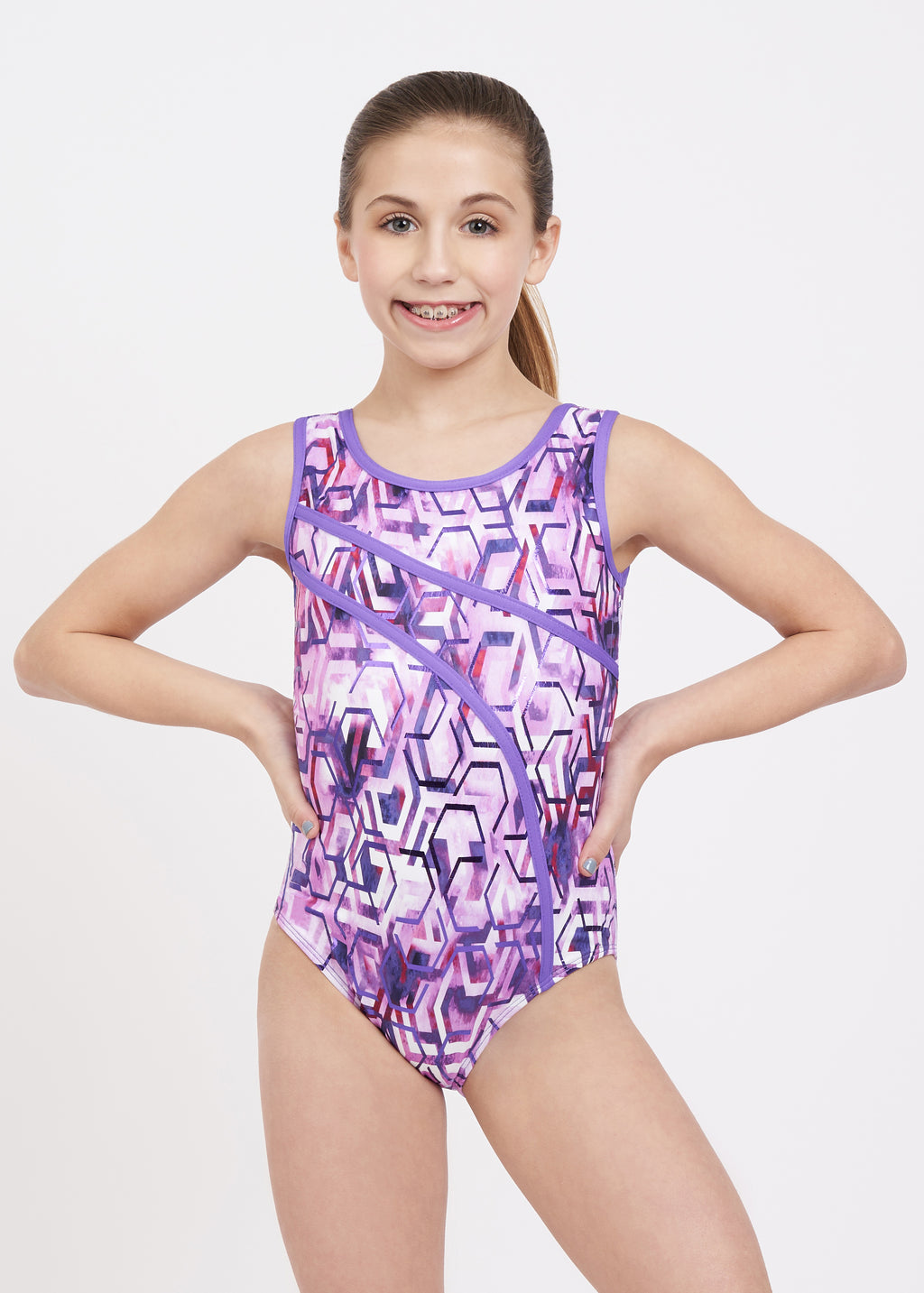 Techno Splash Tank Leotard - Child