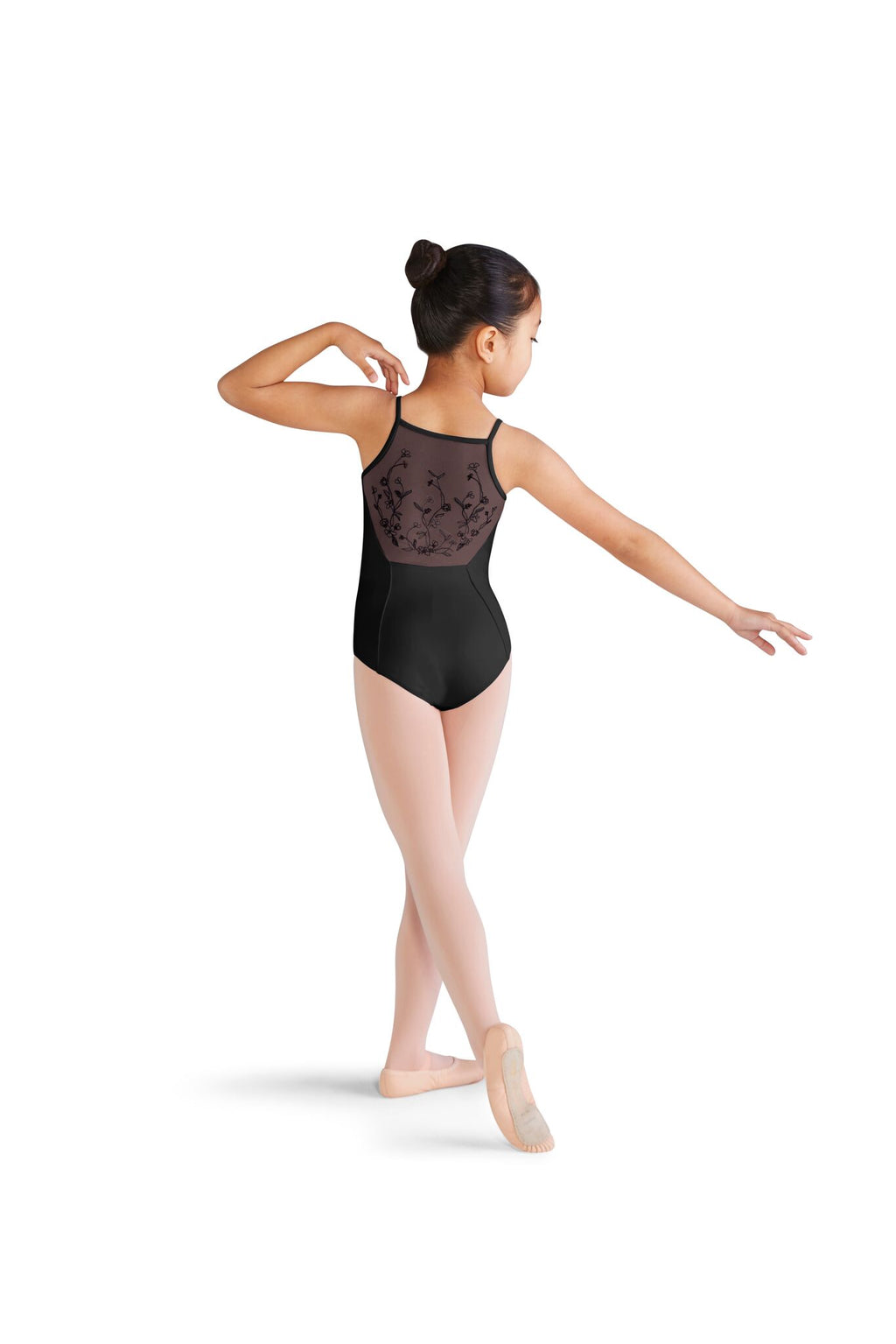Princess Seam Embroidered Back Leotard - Child