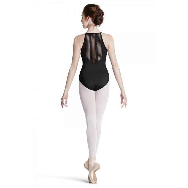 Stretch Stripe Back Camisole Leotard - Adult