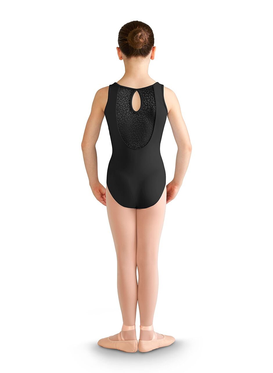 Felina Mesh Back Keyhole Tank Leotard - Child