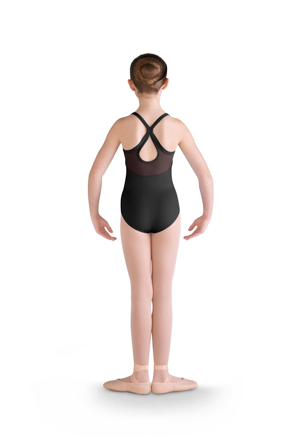 Embroidered Mesh Bodice Leotard - Child