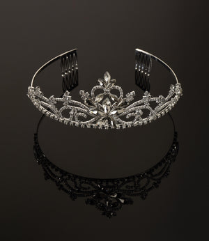 Large Flower Front Tiara