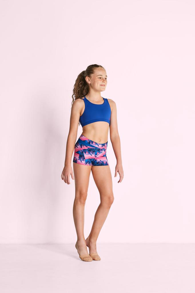 Printed V Front High Waist Shorts - Child
