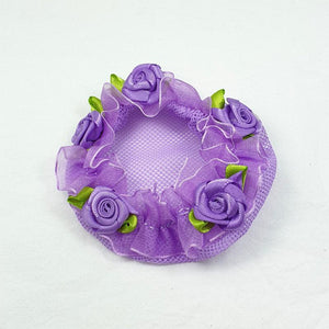 Lavender Bun Cover with Roses