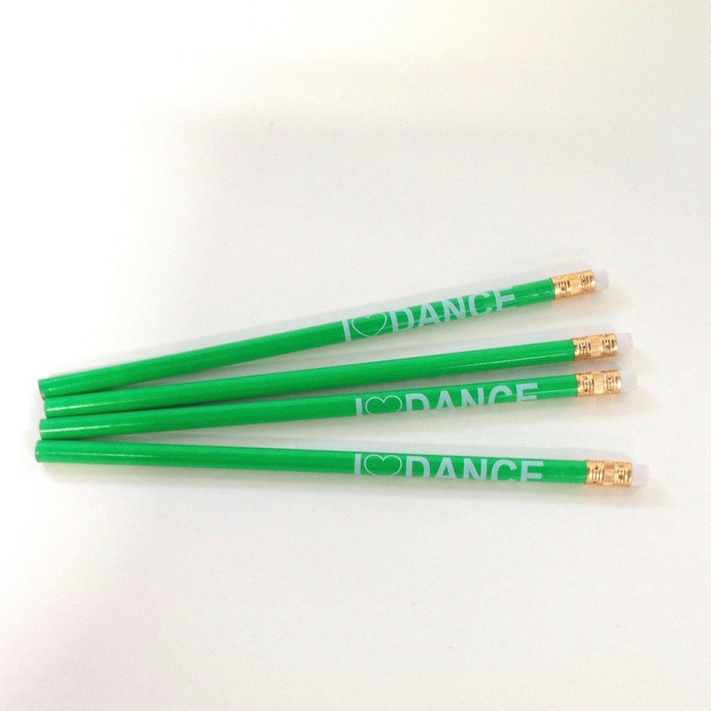 Accessories - I Love Dance Pencil - Green