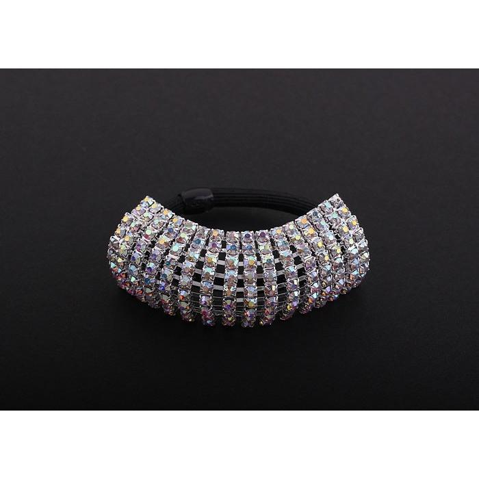 Accessories - Nine Row AB Rhinestone Ponytail Holder