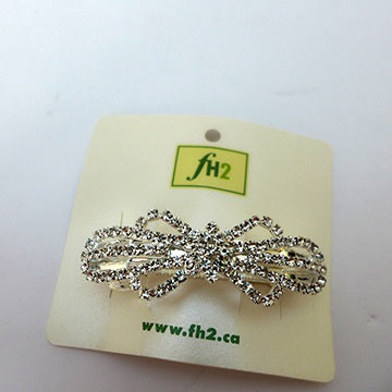 Accessories - Rhinestone Bow Barette