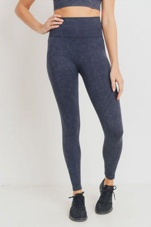 Waves and Crosses Mineral Wash Seamless Highwaist Leggings