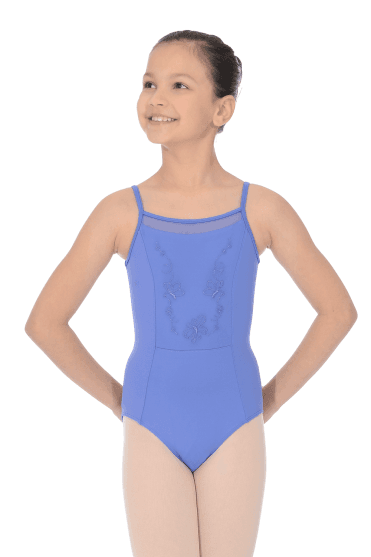 Embroidered Butterfly Bodice Camisole Leotard - Child