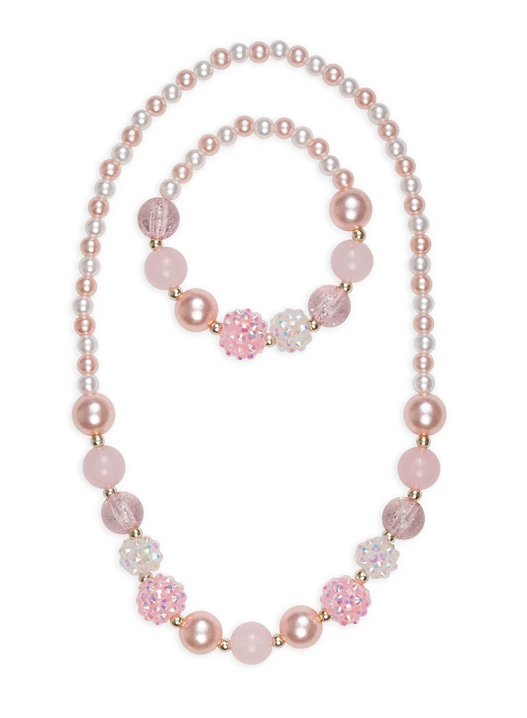 Pinky Pearl Necklace Set