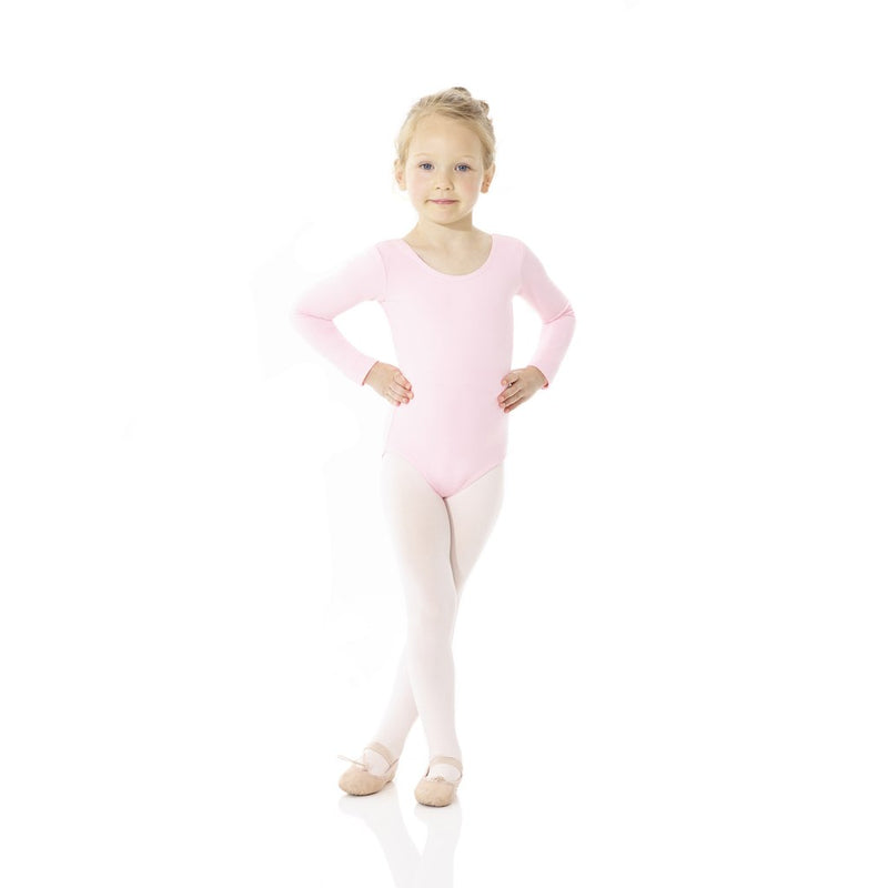 Bodysuits - Cotton Long Sleeve Leotard - Child