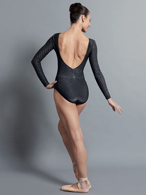 Bodysuits - Lyman Printed Long Sleeve Leotard - Adult