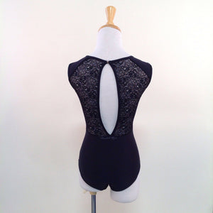 Bodysuits - Rita Lace Neckline Leotard - Adult