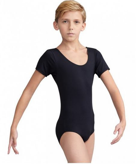 Bodysuits - Tactel Short Sleeve Leotard - Boys'