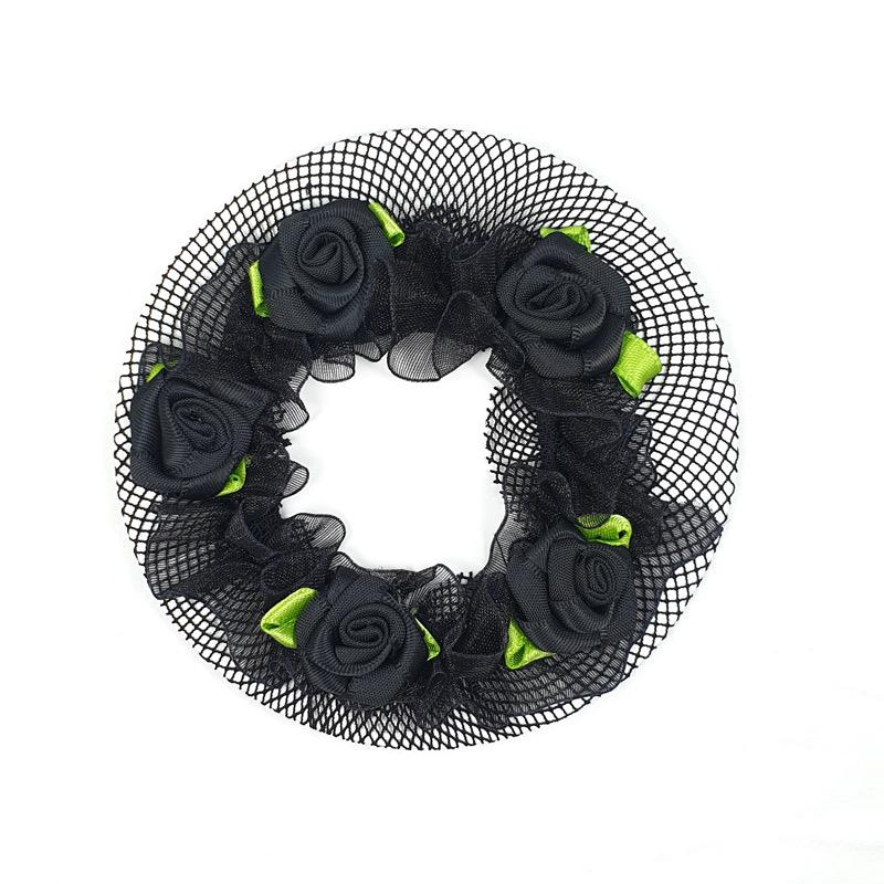 Black Bun Cover with Roses
