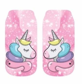 Ankle Socks Unicorn Pink
