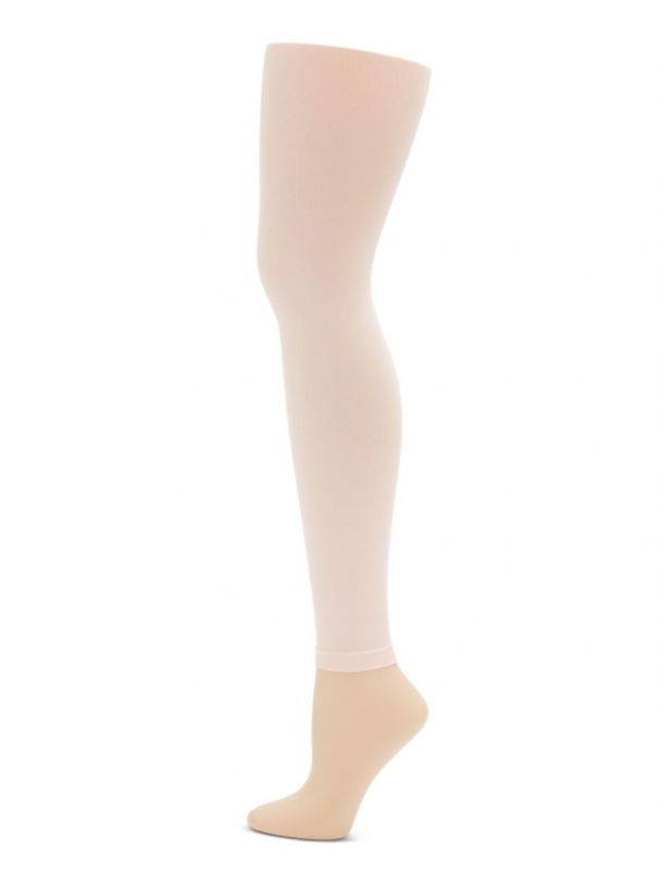 Tights - Footless Tights With Self Knit Waistband
