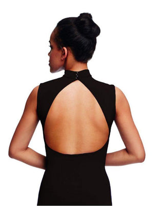 Polo Neck Leotard with Open Back - Adult