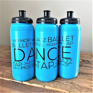 Dance Style Print Water Bottle 16 oz.