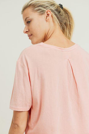 Pinched-Back Essential Athleisure Crop Top - Adult