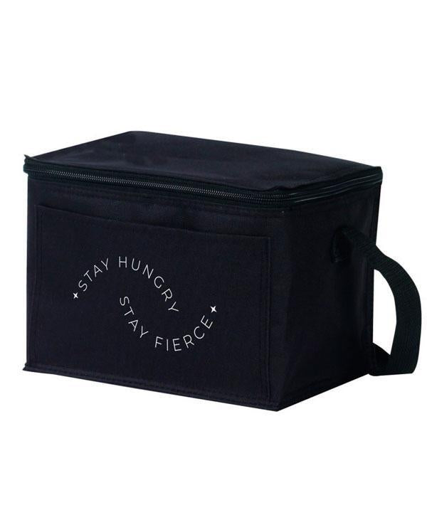Stay Hungry Stay Fierce Insulated Lunch Bag - Black
