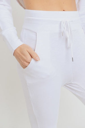 Highwaist Slim Cuffed Joggers - Adult