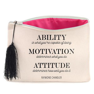 Raymond Chandler Quote Canvas Cosmetic Bag