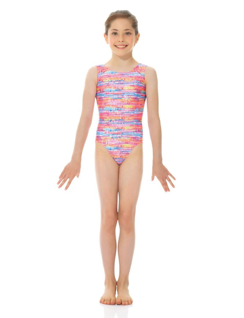 Printed Gymnastics Leotard - Child