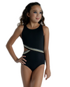 Lurex Trim Tank Leotard - Child